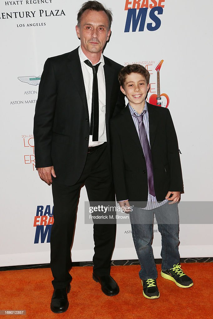 Actor Robert Knepper (L) and his son Benjamin Knepper attend the 20th Annual Race to Erase MS Gala 'Love to Erase MS' at the Hyatt Regency Century Plaza on May 3, 2013 in Century City, California.