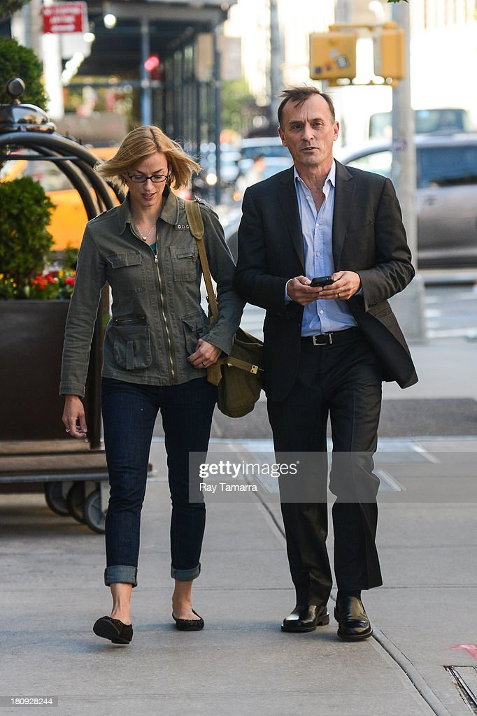 Actor <a gi-track='captionPersonalityLinkClicked' href=/galleries/search?phrase=Robert+Knepper&family=editorial&specificpeople=630261 ng-click='$event.stopPropagation()'>Robert Knepper</a> (R) leaves his Soho hotel on September 17, 2013 in New York City.