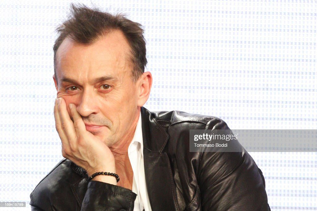 Actor <a gi-track='captionPersonalityLinkClicked' href=/galleries/search?phrase=Robert+Knepper&family=editorial&specificpeople=630261 ng-click='$event.stopPropagation()'>Robert Knepper</a> of the TV show 'Cult' attends the 2013 TCA Winter Press Tour CW/CBS panel held at The Langham Huntington Hotel and Spa on January 13, 2013 in Pasadena, California.