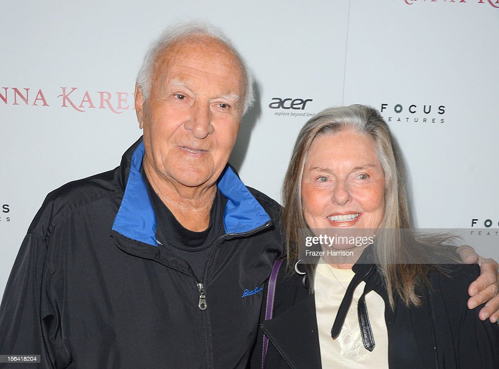 Actor Robert Loggia and wife Audrey Loggia attend the premiere of Focus Features' 'Anna Karenina' held at ArcLight Cinemas on November 14 2012 in...