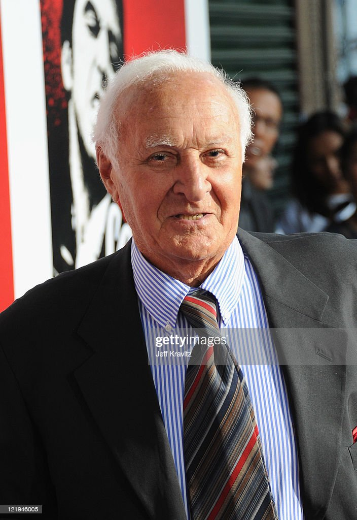 Actor Robert Loggia arrives at a cast reunion celebrating the 'Scarface' Limited Edition BluRay Release with Ciroc Vodka held at the Belasco Theatre...