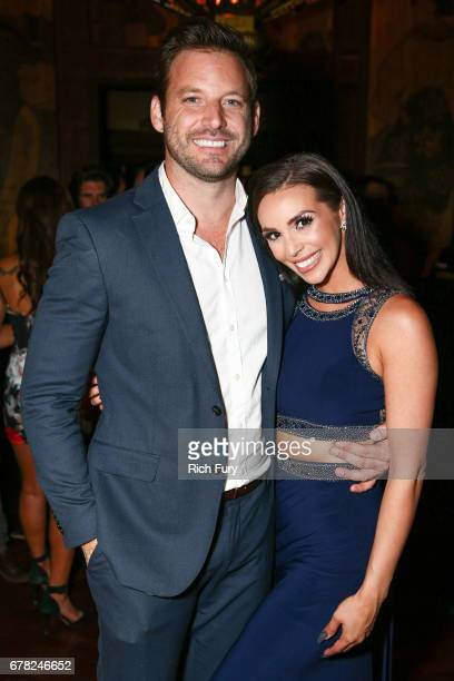 Actor Robert ParksValletta and actor/model Scheana Marie attend the 'This Is LA' Premiere Party at Yamashiro Hollywood on May 3 2017 in Los Angeles...