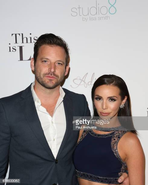 Actor Robert ParksValletta and Reality TV Personality Scheana Marie attend the premiere party for 'This Is LA' at Yamashiro Hollywood on May 3 2017...