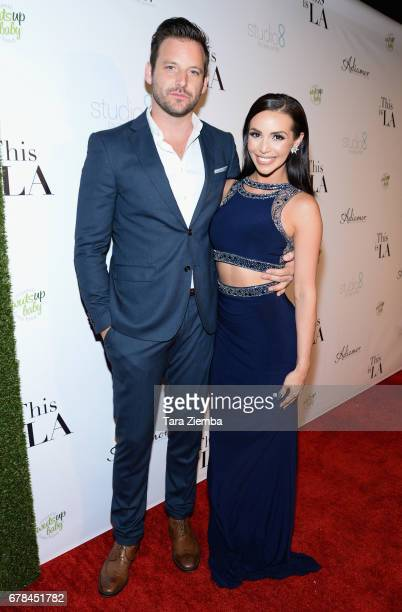 Actor Robert ParksValletta and TV personality Scheana Marie attend the premiere party for Circle 8 Production's 'This Is LA' at Yamashiro Hollywood...