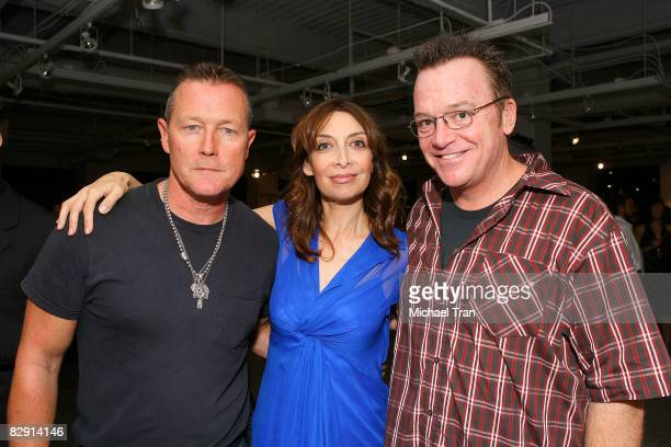 Actor Robert Patrick actress Illeana Douglas and actor Tom Arnold arrive to the 'Easy to Assemble' launch party held at the Architecture and Design...