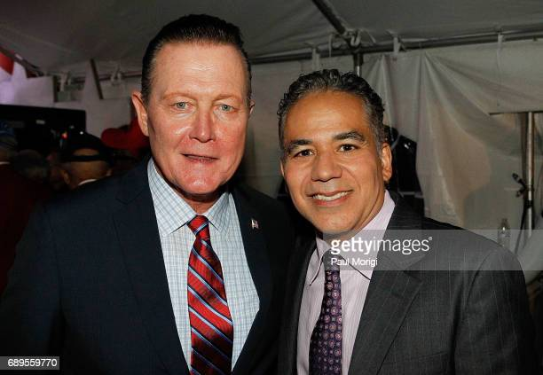 Actor Robert Patrick from the hit series 'Scorpion' and actors John Ortiz backstage at PBS' 2017 National Memorial Day Concert at US Capitol West...