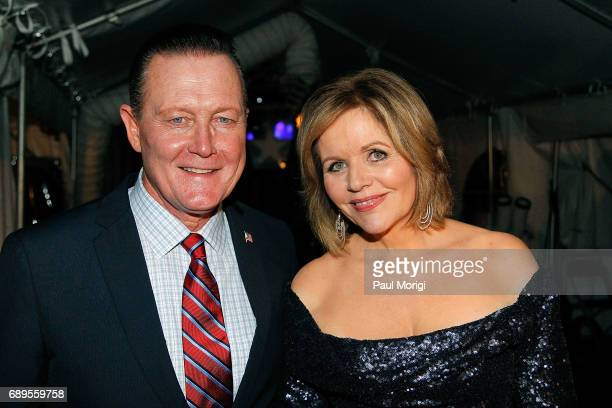 Actor Robert Patrick from the hit series 'Scorpion' and Grammy Awardwinning classical music artist Rene Fleming backstage at PBS' 2017 National...