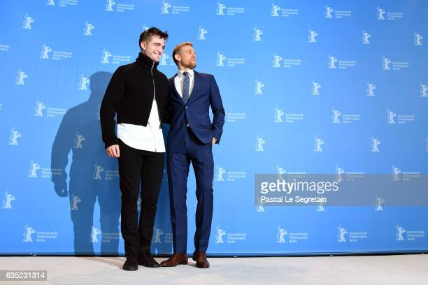 Actor Robert Pattinson and actor Charlie Hunnam attend the 'The Lost City of Z' photo call during the 67th Berlinale International Film Festival...