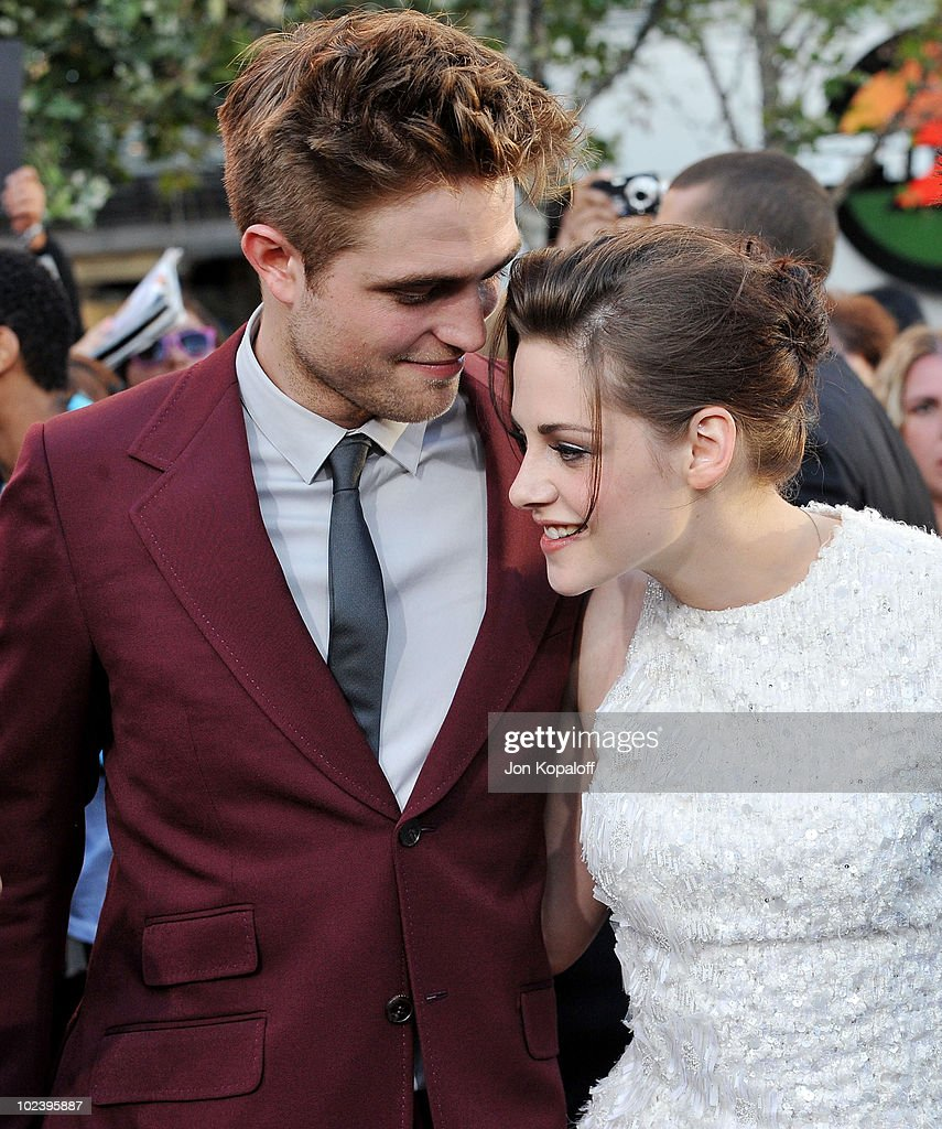 Actor <a gi-track='captionPersonalityLinkClicked' href=/galleries/search?phrase=Robert+Pattinson&family=editorial&specificpeople=734445 ng-click='$event.stopPropagation()'>Robert Pattinson</a> and actress <a gi-track='captionPersonalityLinkClicked' href=/galleries/search?phrase=Kristen+Stewart&family=editorial&specificpeople=2166264 ng-click='$event.stopPropagation()'>Kristen Stewart</a> arrive at the Los Angeles Premiere 'The Twilight Saga: Eclipse' at Regal 14 at LA Live Downtown on June 24, 2010 in Los Angeles, California.