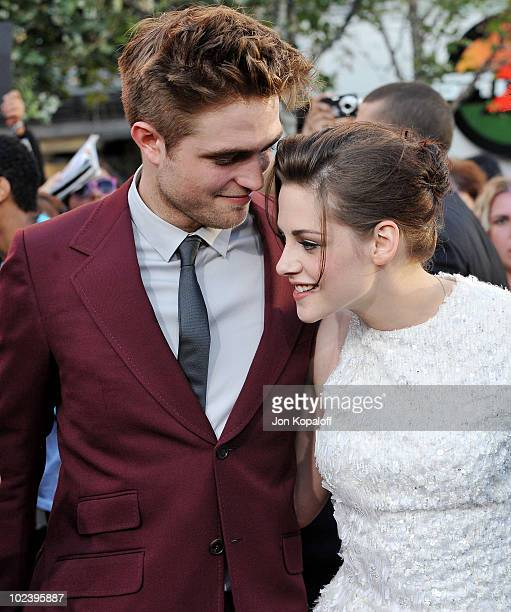 Actor Robert Pattinson and actress Kristen Stewart arrive at the Los Angeles Premiere 'The Twilight Saga Eclipse' at Regal 14 at LA Live Downtown on...