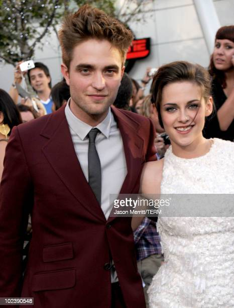 Actor Robert Pattinson and actress Kristen Stewart arrive at the premiere of Summit Entertainment's 'The Twilight Saga Eclipse' during the 2010 Los...