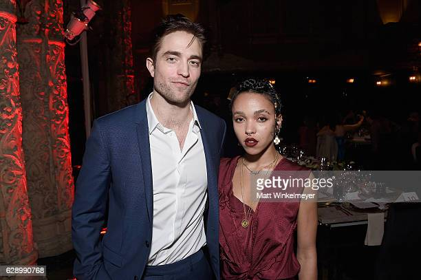 Actor Robert Pattinson and artist FKA Twigs attend the LA Dance Annual Gala at The Theatre at Ace Hotel on December 10 2016 in Los Angeles California