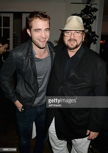Actor Robert Pattinson and director/writer James Toback attend the 'Seduced And Abandoned' LA screening at Clarity Theater on October 22 2013 in...