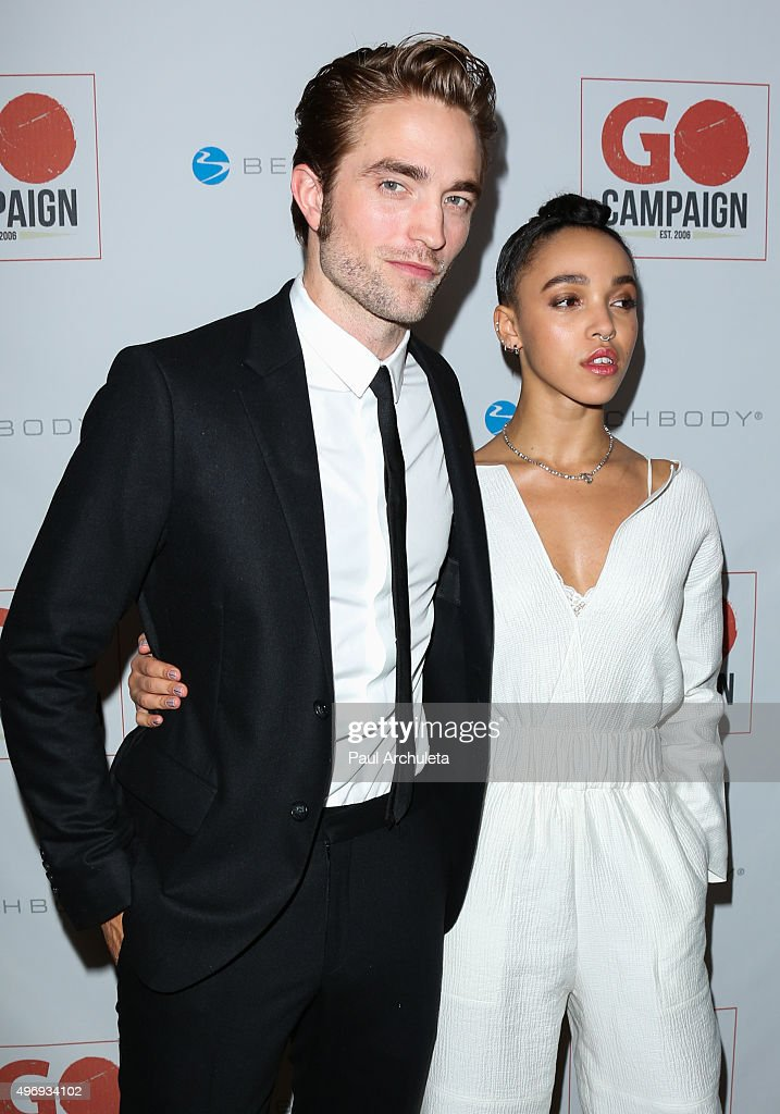Actor Robert Pattinson (L) and Singer FKA twigs (R) attend the 8th Annual GO Campaign Gala at Montage Beverly Hills on November 12, 2015 in Beverly Hills, California.