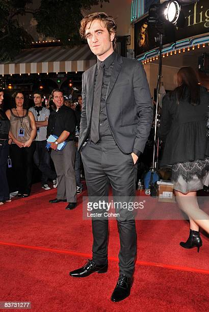 Actor Robert Pattinson arrives at Summit Entertainment's 'Twilight' World Premiere at Mann Village on November 17 2008 in Westwood California