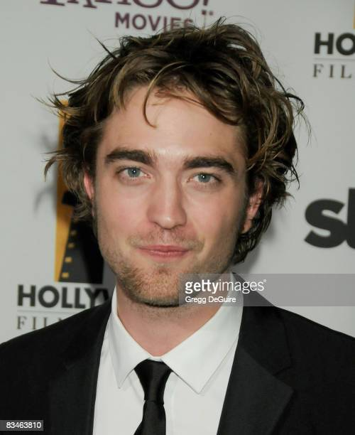 Actor Robert Pattinson arrives at the 12th Annual Hollywood Film Festival Awards Gala at the Beverly Hilton Hotel on October 27 2008 in Beverly Hills...