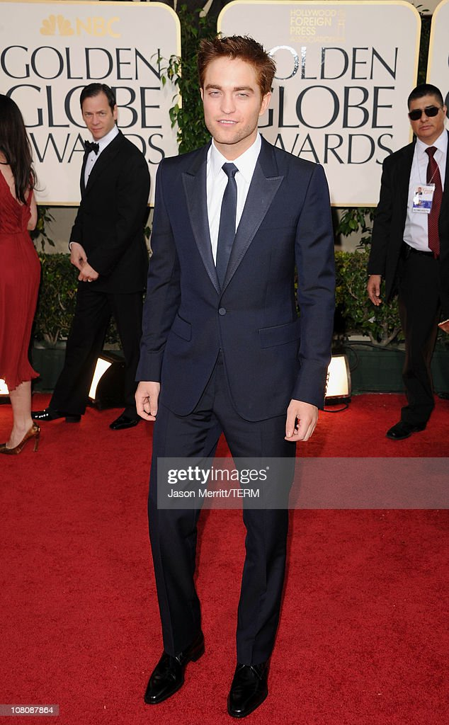 Actor Robert Pattinson arrives at the 68th Annual Golden Globe Awards held at The Beverly Hilton hotel on January 16, 2011 in Beverly Hills, California.