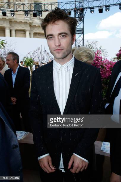 Actor Robert Pattinson attends the Christian Dior Haute Couture Fall/Winter 20172018 show as part of Haute Couture Paris Fashion Week on July 3 2017...