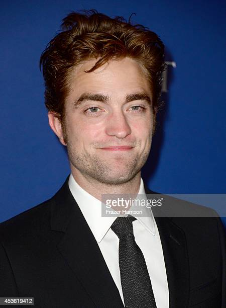 Actor Robert Pattinson attends the Hollywood Foreign Press Association's Grants Banquet at The Beverly Hilton Hotel on August 14 2014 in Beverly...