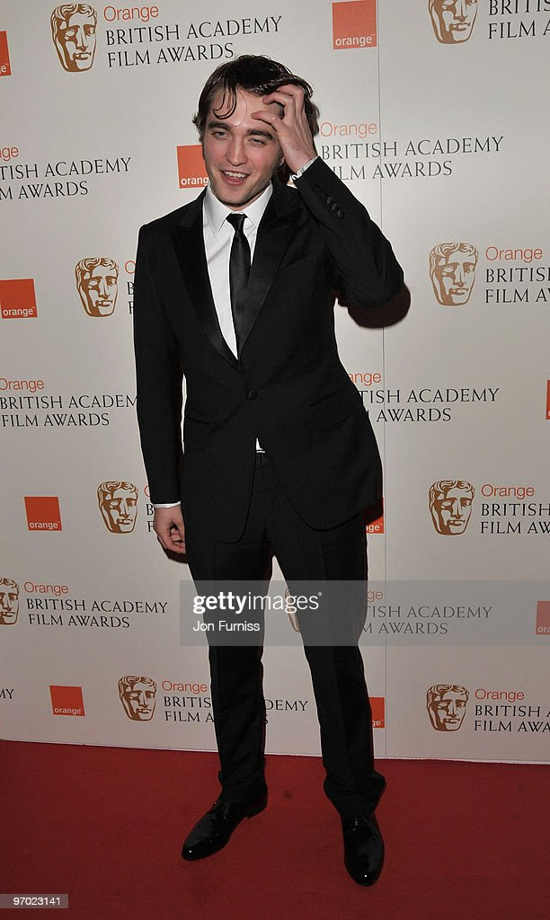 Actor Robert Pattinson attends the Orange British Academy Film Awards 2010 at the Royal Opera House on February 21, 2010 in London, England.