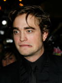 Actor Robert Pattinson attends the premiere of Summit Entertainment's 'Twilight' at The Mann Village and Bruin Theatres on November 17 2008 in...