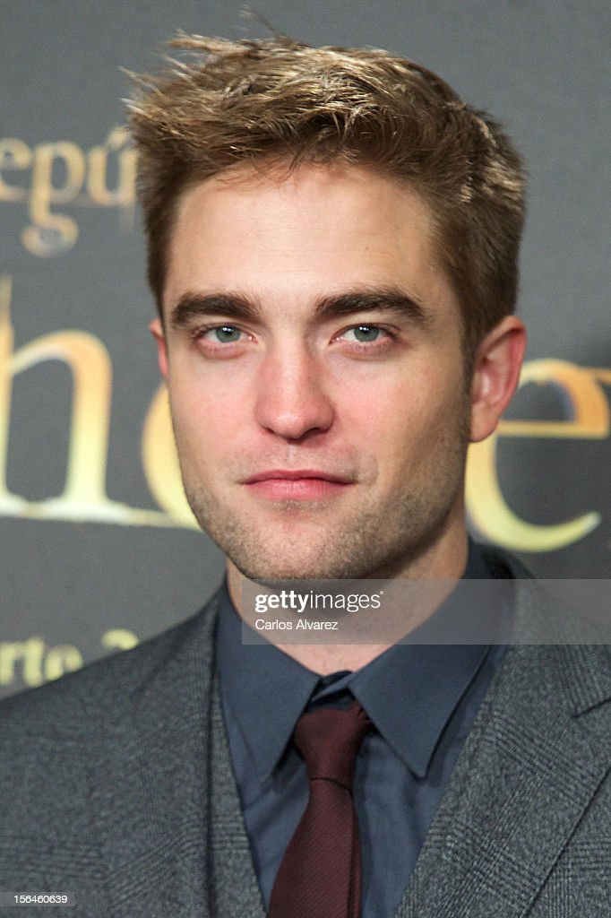 Actor <a gi-track='captionPersonalityLinkClicked' href=/galleries/search?phrase=Robert+Pattinson&family=editorial&specificpeople=734445 ng-click='$event.stopPropagation()'>Robert Pattinson</a> attends the 'The Twilight Saga: Breaking Dawn - Part 2' (La Saga Crepusculo: Amanecer Parte 2) premiere at the Kinepolis cinema on November 15, 2012 in Madrid, Spain.
