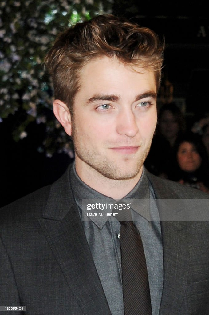 Actor Robert Pattinson attends the UK Premiere of 'The Twilight Saga: Breaking Dawn Part 1' at Westfield Stratford City on November 16, 2011 in London, England.