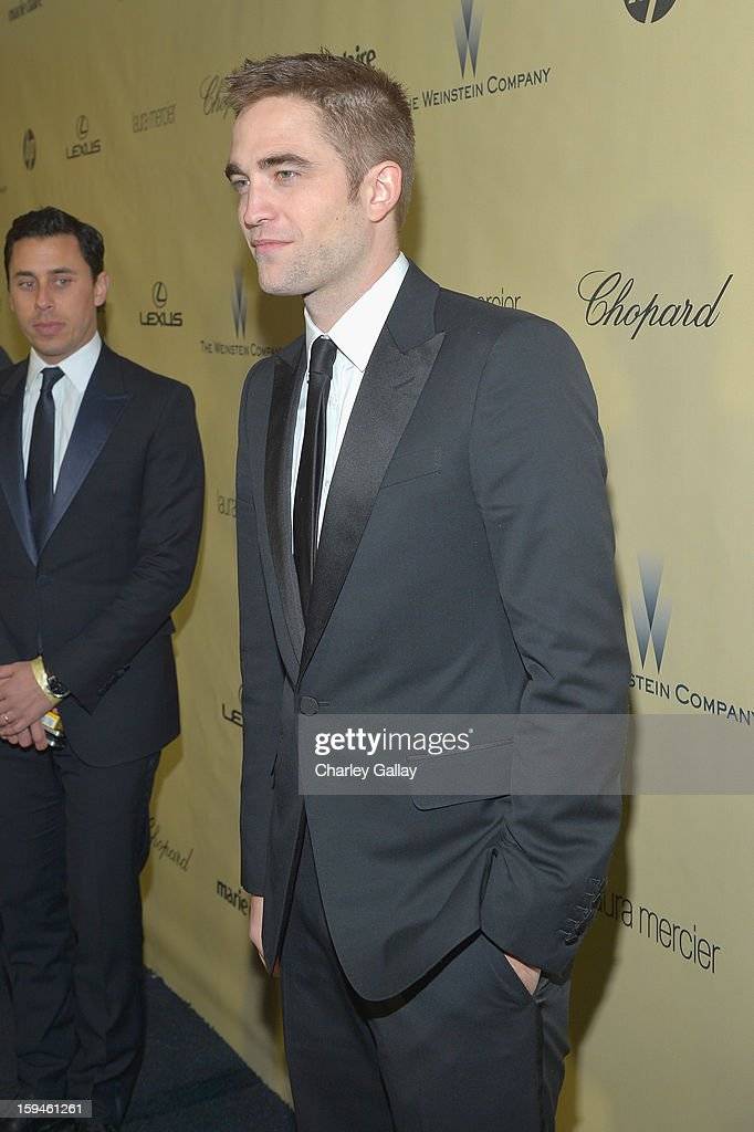 Actor <a gi-track='captionPersonalityLinkClicked' href=/galleries/search?phrase=Robert+Pattinson&family=editorial&specificpeople=734445 ng-click='$event.stopPropagation()'>Robert Pattinson</a> attends The Weinstein Company's 2013 Golden Globe Awards After Party presented by Chopard held at The Old Trader Vic's at The Beverly Hilton Hotel on January 13, 2013 in Beverly Hills, California.