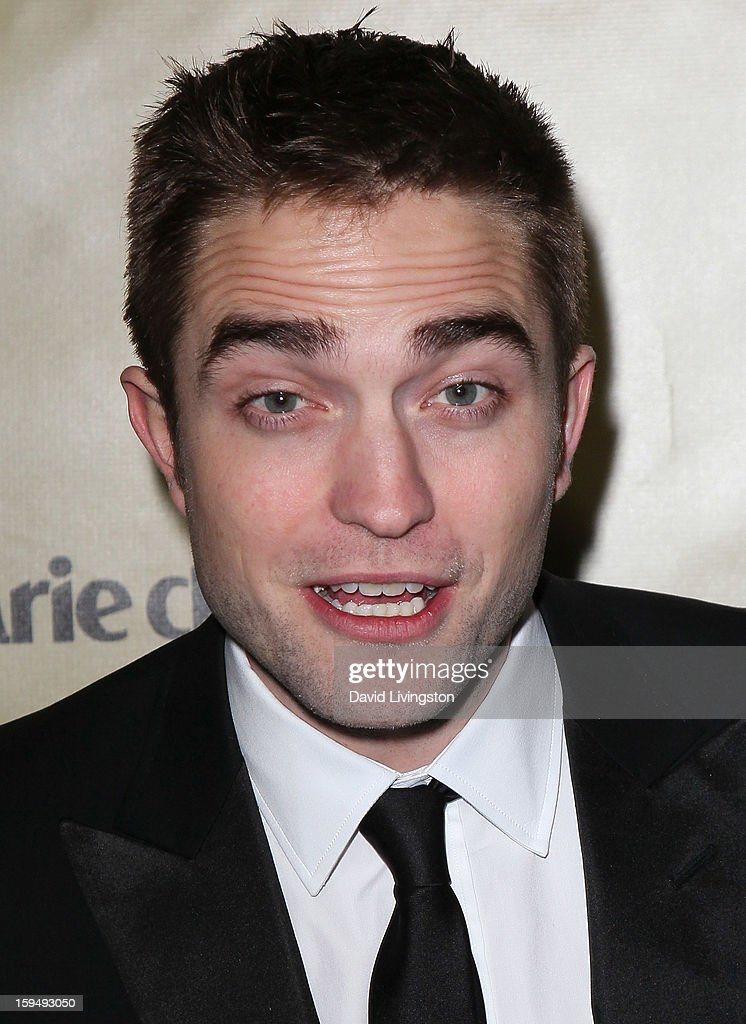Actor <a gi-track='captionPersonalityLinkClicked' href=/galleries/search?phrase=Robert+Pattinson&family=editorial&specificpeople=734445 ng-click='$event.stopPropagation()'>Robert Pattinson</a> attends The Weinstein Company's 2013 Golden Globe Awards After Party at The Beverly Hilton hotel on January 13, 2013 in Beverly Hills, California.