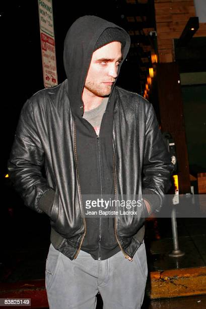 Actor Robert Pattinson leaves Sushi on Sunset on November 25 2008 in Hollywood California