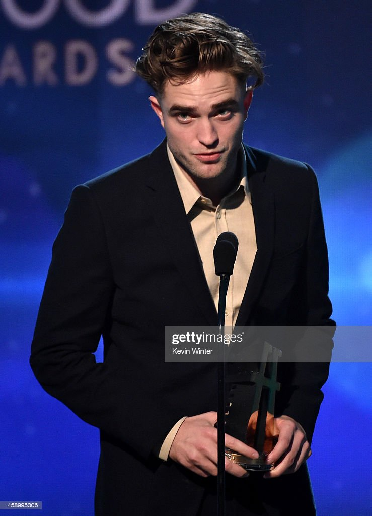 Actor Robert Pattinson speaks onstage during the 18th Annual Hollywood Film Awards at The Palladium on November 14 2014 in Hollywood California