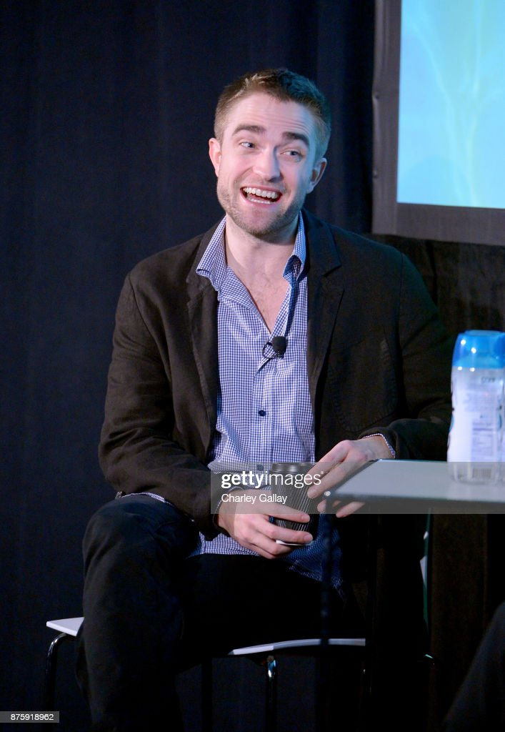 Actor Robert Pattinson speaks onstage during the 'Have a Good Time with Robert Pattinson' event, part of Vulture Festival LA Presented by AT&T at Hollywood Roosevelt Hotel on November 18, 2017 in Hollywood, California.