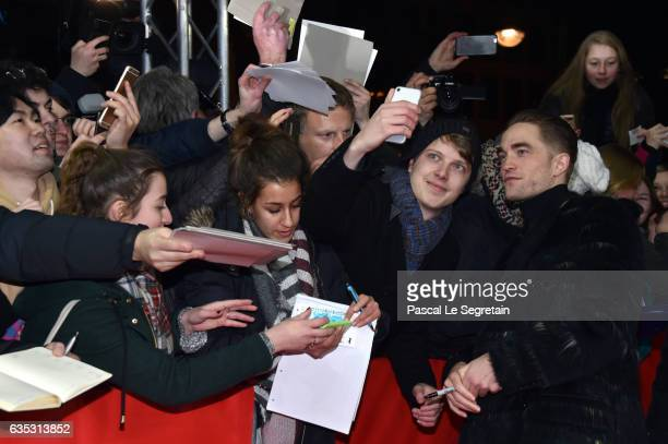 Actor Robert Pattinson with fans at the 'The Lost City of Z' premiere during the 67th Berlinale International Film Festival Berlin at Zoo Palast on...