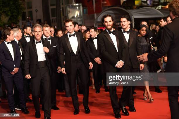 Actor Robert Pattinson writer codirector Joshua Safdie codirector Ben Safdie actress Taliah Webster producer Oscar Boyson and guests attend the 'Good...