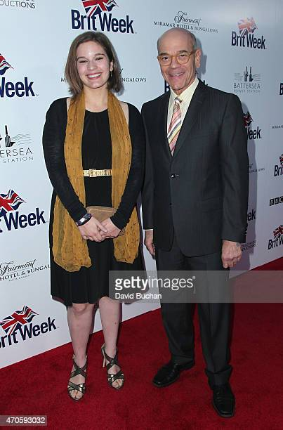 Actor Robert Picardo and guest arrive at the 9th Annual BritWeek launch party at the British Consul General's Residence on April 21 2015 in Los...