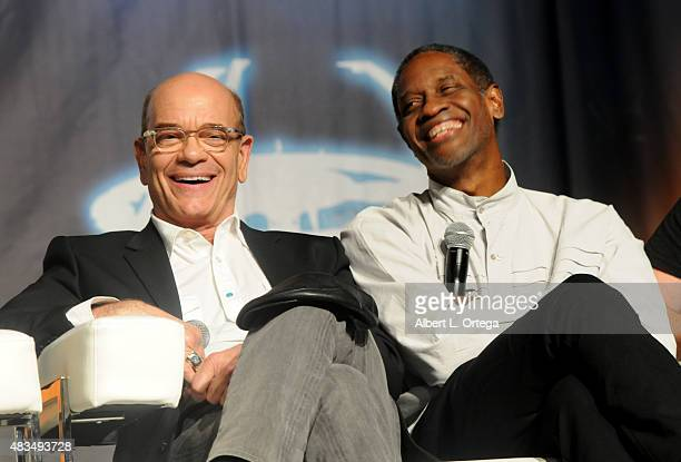 Actor Robert Picardo and Tim Russ at the 14th annual official Star Trek convention at the Rio Hotel Casino on August 8 2015 in Las Vegas Nevada