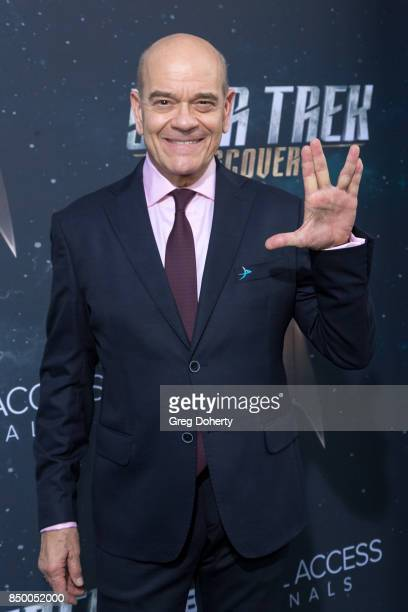 Actor Robert Picardo arrives for the Premiere Of CBS's 'Star Trek Discovery' at The Cinerama Dome on September 19 2017 in Los Angeles California