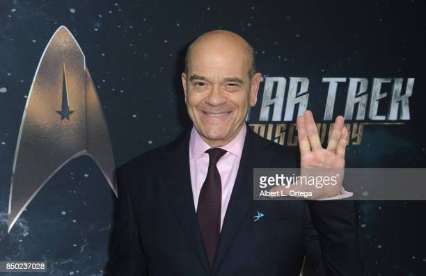Actor Robert Picardo arrives for the Premiere Of CBS's 'Star Trek Discovery' held at The Cinerama Dome on September 19 2017 in Los Angeles California