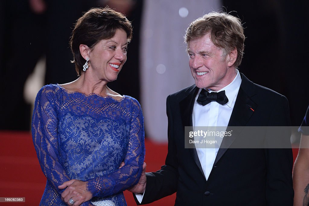 Actor Robert Redford (R) and his wife Sibylle Szaggars attend the 'All Is Lost' Premiere during the 66th Annual Cannes Film Festival at Palais des Festivals on May 22, 2013 in Cannes, France.