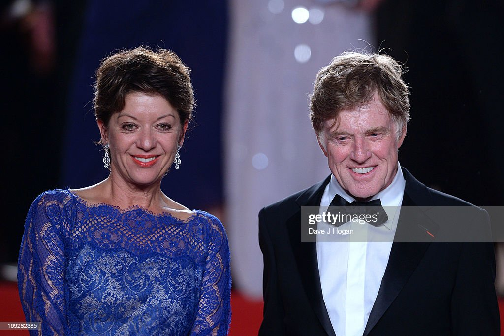 Actor <a gi-track='captionPersonalityLinkClicked' href=/galleries/search?phrase=Robert+Redford&family=editorial&specificpeople=202897 ng-click='$event.stopPropagation()'>Robert Redford</a> (R) and his wife <a gi-track='captionPersonalityLinkClicked' href=/galleries/search?phrase=Sibylle+Szaggars&family=editorial&specificpeople=2691729 ng-click='$event.stopPropagation()'>Sibylle Szaggars</a> attend the 'All Is Lost' Premiere during the 66th Annual Cannes Film Festival at Palais des Festivals on May 22, 2013 in Cannes, France.