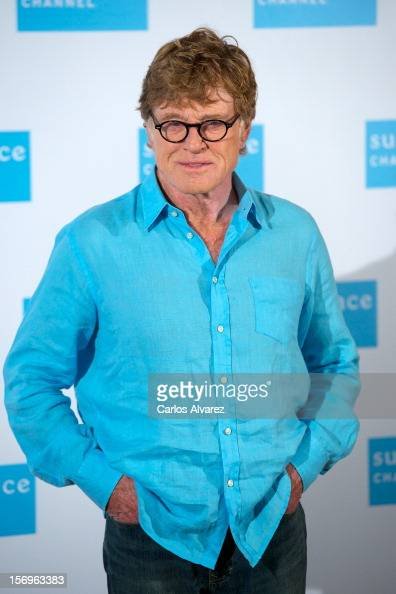 Actor Robert Redford attends a photocall for Sundance Channel at the Ritz Hotel on November 26 2012 in Madrid Spain
