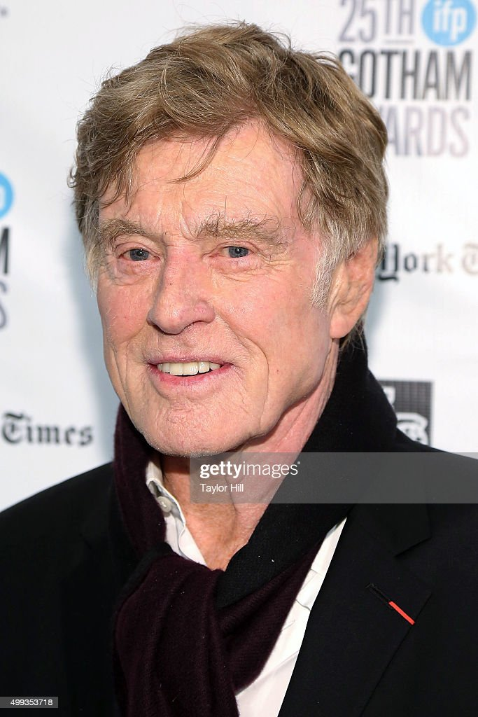 Actor Robert Redford attends the 2015 Gotham Independent Film Awards at Cipriani Wall Street on November 30 2015 in New York City