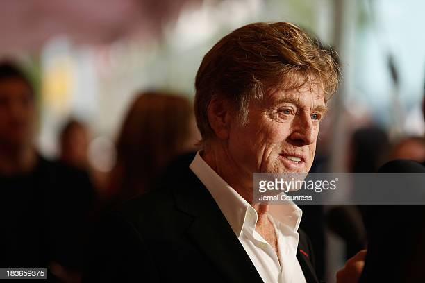 Actor Robert Redford attends the 'All Is Lost' premiere during the 51st New York Film Festival at Alice Tully Hall at Lincoln Center on October 8...