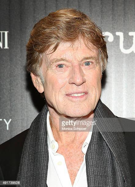 Actor Robert Redford attends the screening of Sony Pictures Classics' 'Truth' hosted by Giorgio Armani and The Cinema Society at Museum of Modern Art...