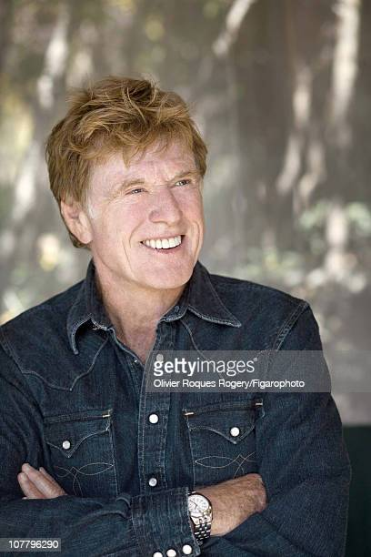 Actor Robert Redford poses outside The Sundance Resort for Le Figaro on November 24 2009 in Sundance Utah Figaro ID 090352068 CREDIT MUST READ...