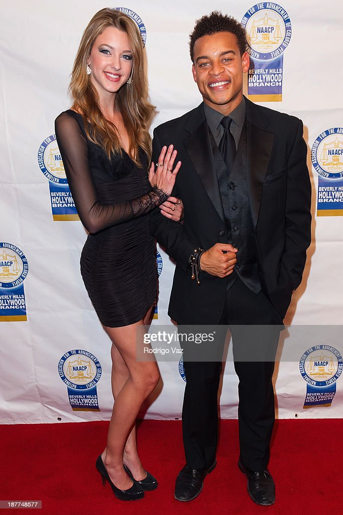 Actor Robert Ri'chard (L) attends the 23rd Annual NAACP Theatre Awards at Saban Theatre on November 11, 2013 in Beverly Hills, California.