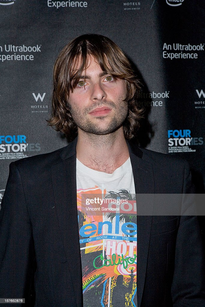 Actor Robert Schwartzman attends the Los Angeles Premiere of 'Four Stories' at W Westwood on December 4, 2012 in Westwood, California.