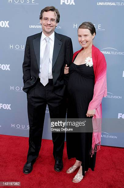 Actor Robert Sean Leonard and wife Gabriella Salick arrive at Fox's 'House' Series Finale Wrap Party at Cicada on April 20 2012 in Los Angeles...