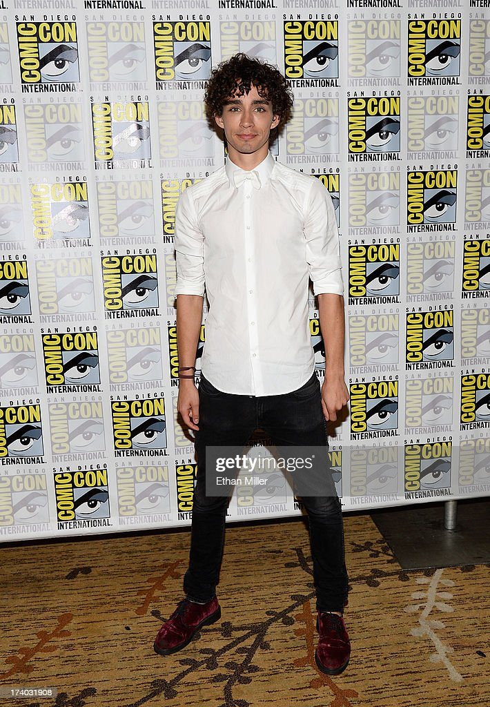 Actor Robert Sheehan attends 'The Mortal Instruments: City of Bones' press line during Comic-Con International 2013 at the Hilton San Diego Bayfront Hotel on July 19, 2013 in San Diego, California.