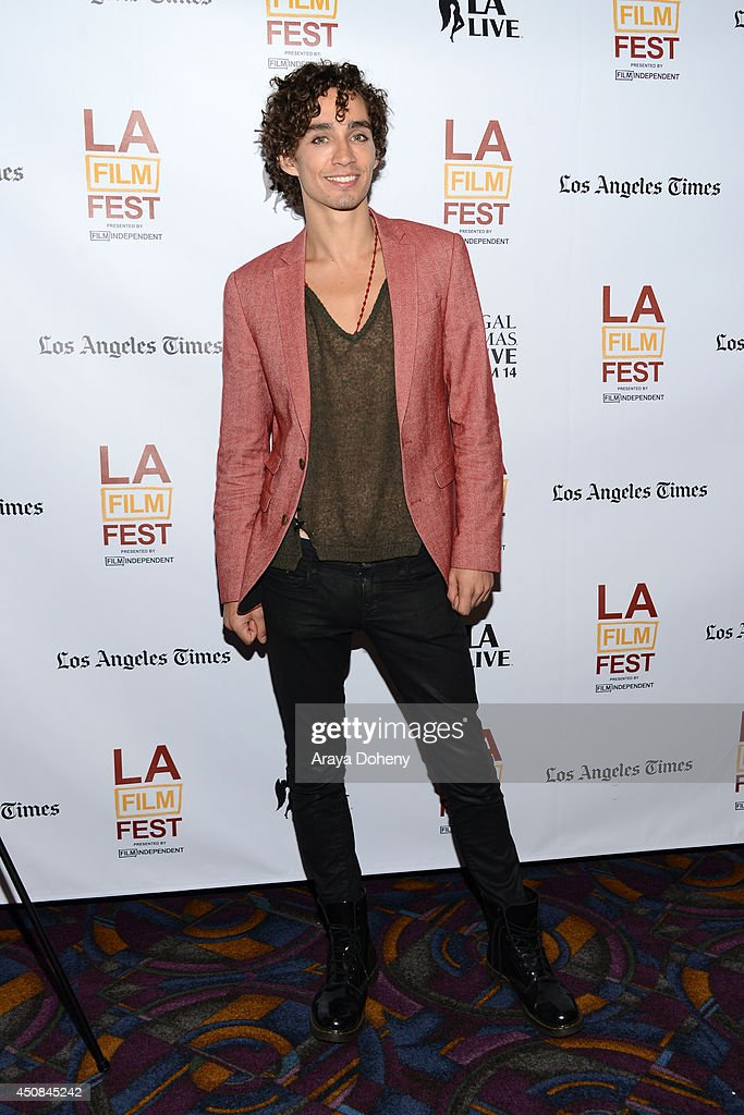 Actor Robert Sheehan attends the premiere of 'The Road Within' during the 2014 Los Angeles Film Festival at Regal Cinemas L.A. Live on June 18, 2014 in Los Angeles, California.
